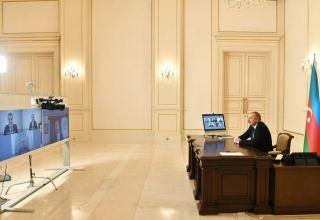 Azerbaijani president receives Signify representatives via video format (PHOTO)