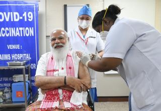 Indian PM gets his first COVID-19 vaccine dose as country begins phase-2 of vaccination drive
