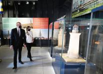Azerbaijani president, first lady attend opening ceremony of world`s first tanker museum in Surakhani (PHOTO) - Gallery Thumbnail