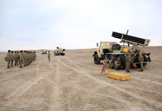Azerbaijan holds command training of troops of Nakhchivan garrison (PHOTO/VIDEO)