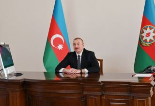 President Aliyev receives in video format delegation led by Chairman Joint Chiefs of Staff Committee of Pakistan (PHOTO)
