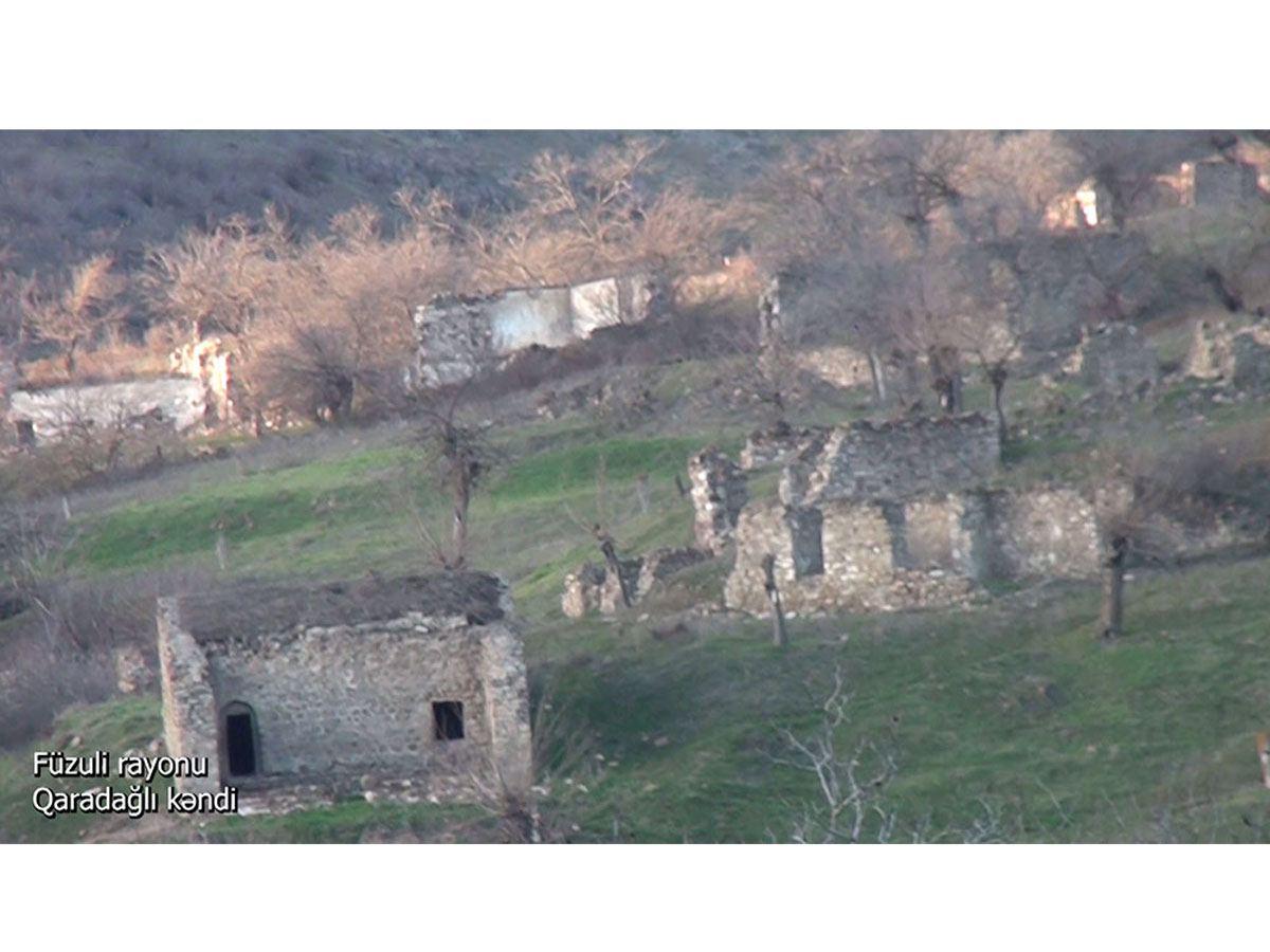 Füzuli rayonunun Qaradağlı kəndi (VİDEO)