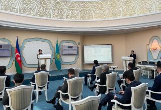 """Trans-Caspian Fiber Optic Cable Project discussed at """"Kazakhstan-Azerbaijan: New Opportunities for Cooperation"""" event (PHOTO)"""