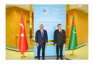 Turkish FM pays official visit to Turkmenistan (PHOTO)