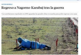 Spanish La Vanguardia: Return to Azerbaijan's Karabakh after war