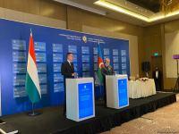 Baku hosts press conference of Azerbaijani, Hungarian FMs (PHOTO/VIDEO) - Gallery Thumbnail