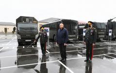 Президент Ильхам Алиев принял участие в открытии новопостроенной «Н-ской» воинской части Внутренних войск  (ФОТО/ВИДЕО) - Gallery Thumbnail