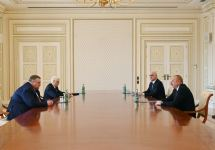 Azerbaijani President Ilham Aliyev receives Deputy PM of Russia Alexei Overchuk (PHOTO) - Gallery Thumbnail