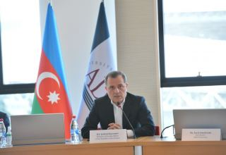 Azerbaijani FM takes part in round table organized by ADA University (PHOTO)