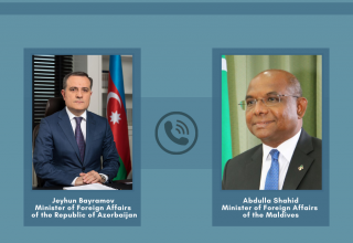Azerbaijani, Maldives FMs hold exchange views issues mutual interest