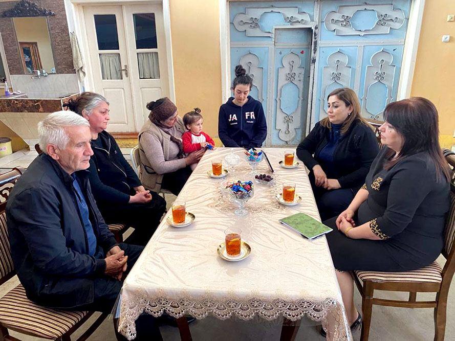 Şəhid ailələri ilə görüşlər keçirilib (FOTO) - Gallery Image