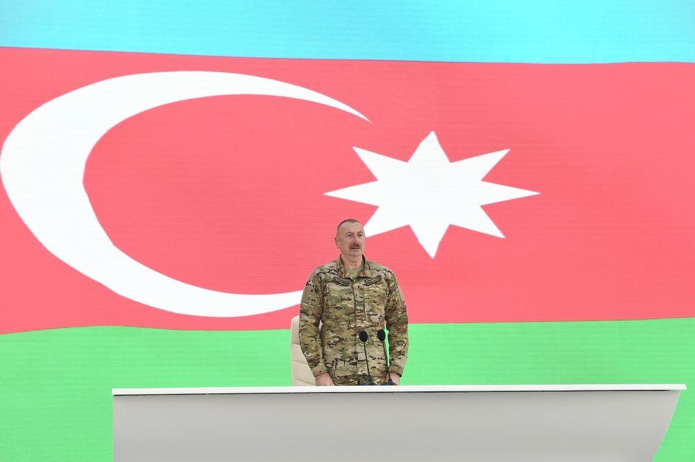 Президент Ильхам Алиев принял участие в открытии в Баку Парка военных трофеев (ФОТО/ВИДЕО) - Gallery Image