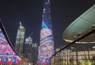 Yuri Gagarin image lights up Dubai's Burj Khalifa