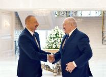 Azerbaijani, Belarus presidents hold one-on-one meeting (PHOTO) - Gallery Thumbnail