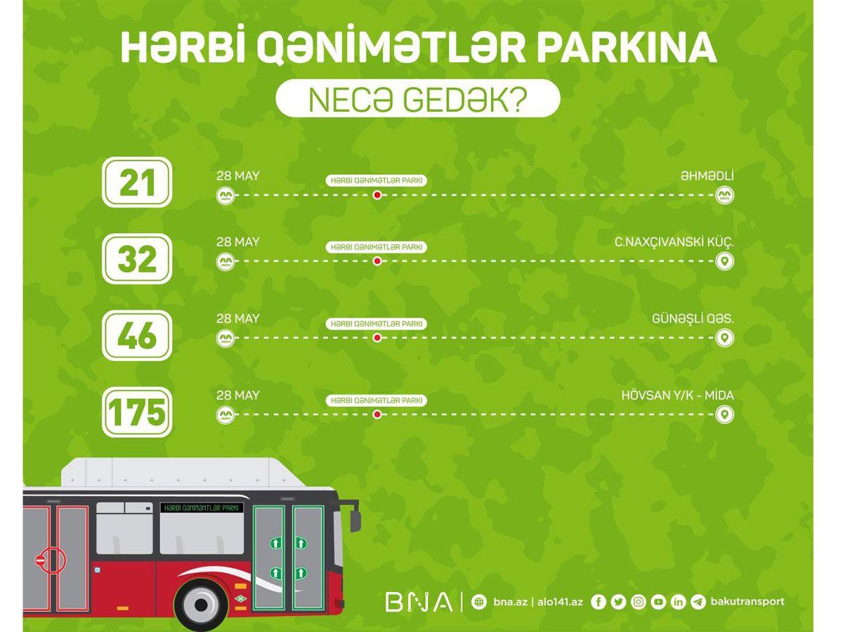 Hərbi Qənimətlər Parkına hansı marşrut avtobusları gedir? - BNA açıqladı