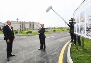 President Aliyev inquires on restoration work process in liberated lands