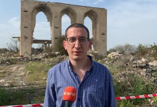 Israel Hayom newspaper reporter saddened by destroyed mosque in Azerbaijan's Aghdam