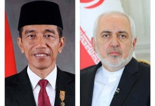 Zarif meets with Indonesian president