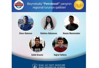"""Bakı Ali Neft Məktəbi regional """"Petrobowl"""" yarışının qalibi olub"""