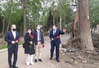 French lawyers arrive in Azerbaijan's Ganja city, shelled by Armenia during war (PHOTO)