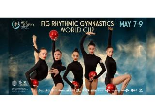 Azerbaijani national team holds podium training for upcoming Rhythmic Gymnastics World Cup in Baku (VIDEO)