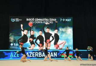 Azerbaijani team express satisfaction for participating in Rhythmic Gymnastics World Cup