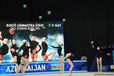 Group teams perform at National Gymnastics Arena as part of Rhythmic Gymnastics World Cup in Baku (PHOTO) - Gallery Thumbnail