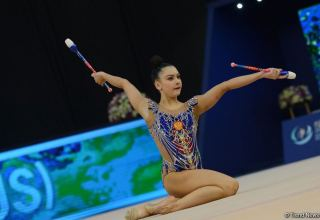 Best moments of second day of Rhythmic Gymnastics World Cup in Baku (PHOTO)