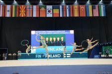 В Национальной арене гимнастики в Баку проходят соревнования групповых команд в рамках Кубка мира (ФОТО) - Gallery Thumbnail