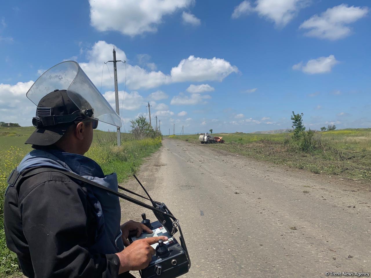8-километровый участок автодороги Физули-Ахмедбейли очищен от мин - Агентство (ФОТО) - Gallery Image
