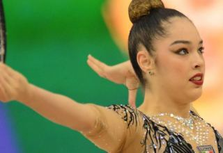 Italian gymnast grabs gold in exercise with ball at Rhythmic Gymnastics World Cup in Baku
