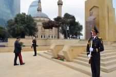 Leadership of Azerbaijani MoD paid tribute to memory of compatriots, who died in Great Patriotic War (PHOTO) - Gallery Thumbnail