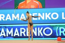 Final day of Rhythmic Gymnastics World Cup starts in Baku - Azerbaijani graces competing for medals (PHOTO) - Gallery Thumbnail