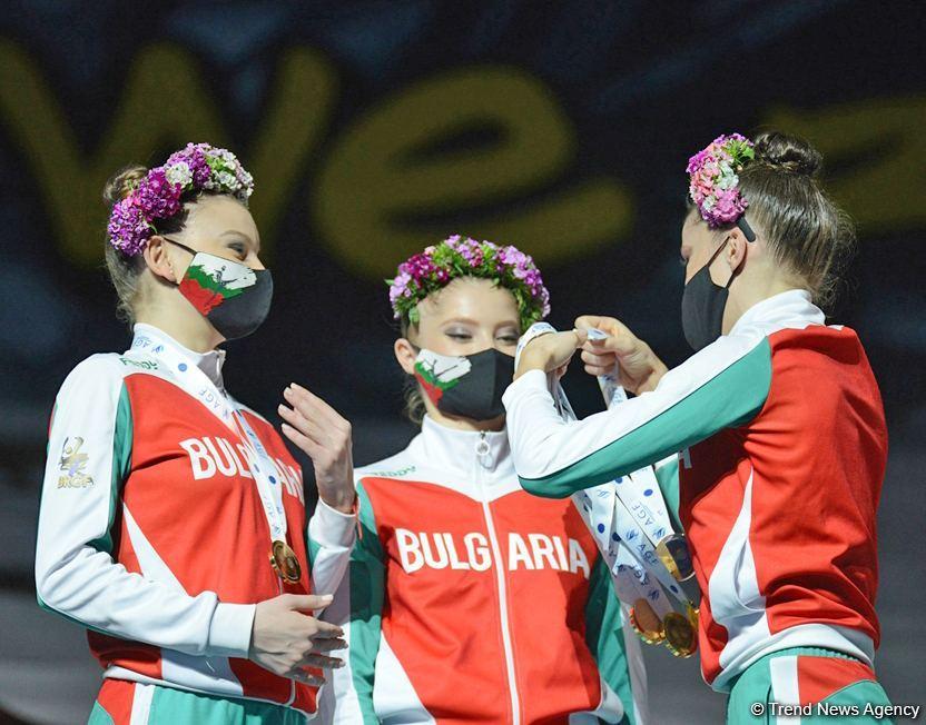 Milli Gimnastika Arenasında bədii gimnastika üzrə Dünya Kubokunda mükafatlandırma mərasimi keçirilib (FOTO) - Gallery Image