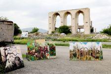 Artists of Int'l Arts Festival create 'Kharybulbul' model in Azerbaijan's liberated lands (PHOTO) - Gallery Thumbnail