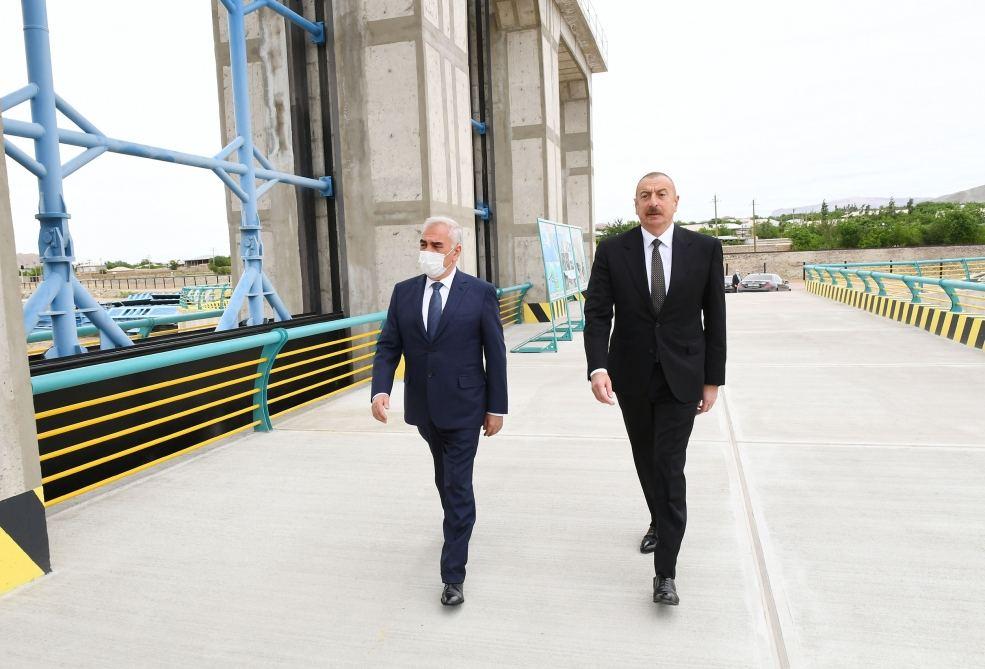 Prezident İlham Əliyev Ordubad Su Elektrik Stansiyasının tikintisi ilə tanış olub (FOTO) (YENİLƏNİB) - Gallery Image