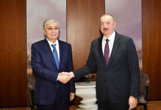 Kazakh, Azerbaijani presidents hold phone talks