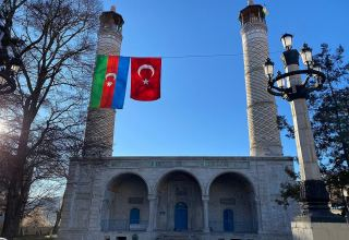 Festive prayer due to holy month of Ramadan in Azerbaijan's Shusha city