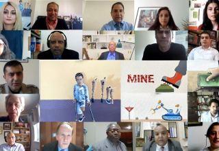 Работы азербайджанских художников и фотографов представлены на Международной конференции по противопехотным минам (ВИДЕО)
