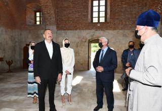 Президент Ильхам Алиев: Большая часть Албанских церквей находится в разрушенном или в полуразрушенном состоянии. Поэтому мы восстановим и их