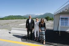 Azerbaijani president, first lady attend opening ceremony of new bridge over Bum River, road to Bum settlement after renovation (PHOTO) - Gallery Thumbnail