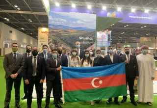 Tourism potential of Azerbaijan's liberated Shusha at int'l exhibition in Dubai (PHOTO)