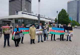 Azerbaijanis hold protest rally in front of UN Campus in Germany (PHOTO)
