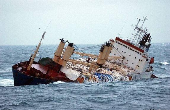 Egey dənizində yük gəmisi batıb