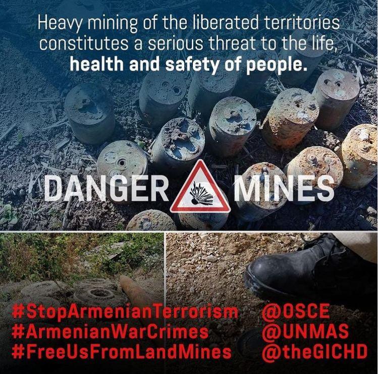 Первый вице-президент Мехрибан Алиева: Отказываясь предоставить карты минных полей, руководство Армении продолжает нарушать международное гуманитарное право и осуществлять политику террора против Азербайджана (ФОТО) - Gallery Image