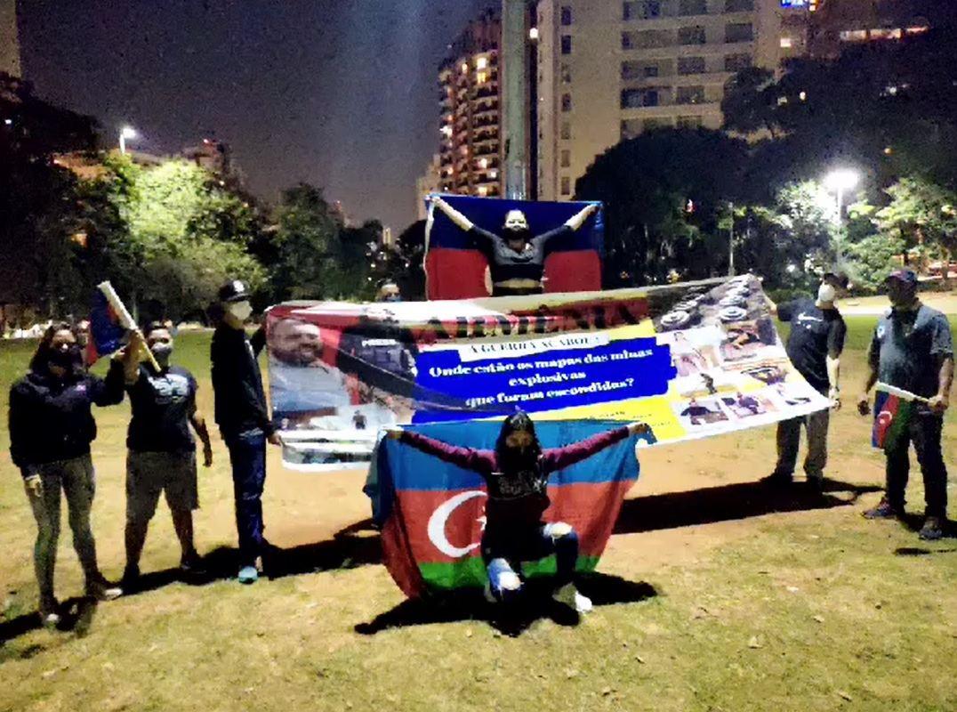 Braziliyada Ermənistana qarşı etiraz aksiyası keçirilib (FOTO)