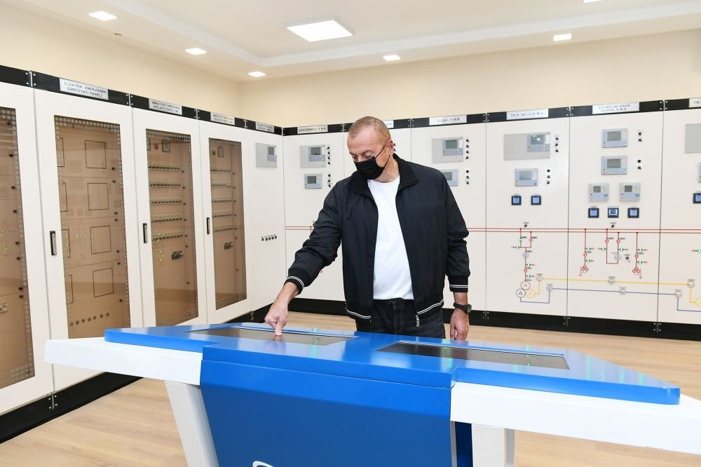 Президент Ильхам Алиев принял участие в открытии подстанции «Физули» (ФОТО) - Gallery Image