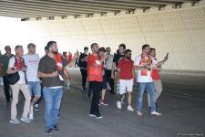 Fans preparing to watch Turkey vs Wales football match at Baku Olympic Stadium (PHOTO) - Gallery Thumbnail