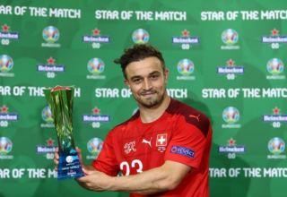 Джердан Шакири признан лучшим игроком матча Швейцария – Турция