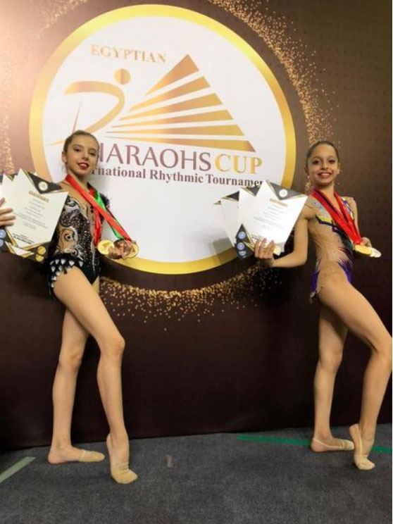 Азербайджанские гимнастки возвращаются из Египта с медалями (ФОТО) - Gallery Image